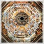 Filippo Brunelleschi cupola dall'interno, con 3600 m2 di affreschi, creato da Giorgio Vasari e Federico Zuccari