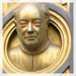 Lorenzo Ghiberti: Autoritratto a Porta del Paradiso