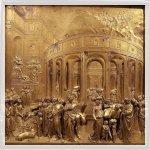 Battistero: Porta del Paradiso Formella in bronzo dorato . scene del Vecchio Testamento La storia di Joseph