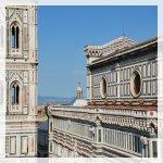 Campanario è il principale esponente del gotico fiorentino del XIV secolo. Vista dalla terrazza