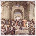 Raffaello, La Scuola di Atene, affresco Musei Vaticani
