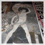 Pavimento a mosaico dentro di Duomo di Siena