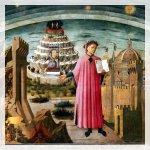 Affresco dedicato a Dante e la Divina Commedia