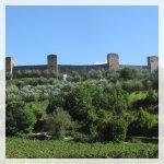 Monteriggioni mura della città