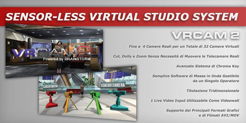 Scenografia Virtuale Grafica 3d Sensor Less Virtual Studio