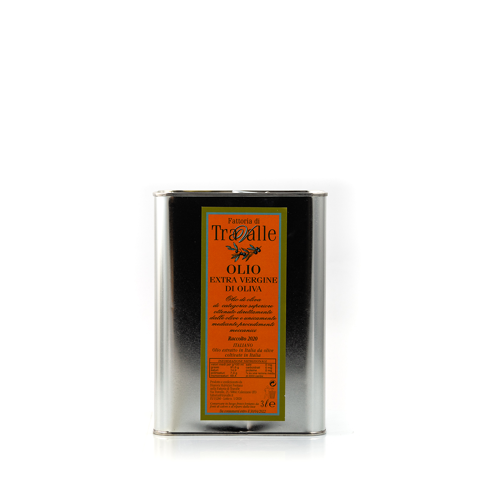 Fattoria di Travalle Olio Extra Vergine di Oliva Travalle - 3l