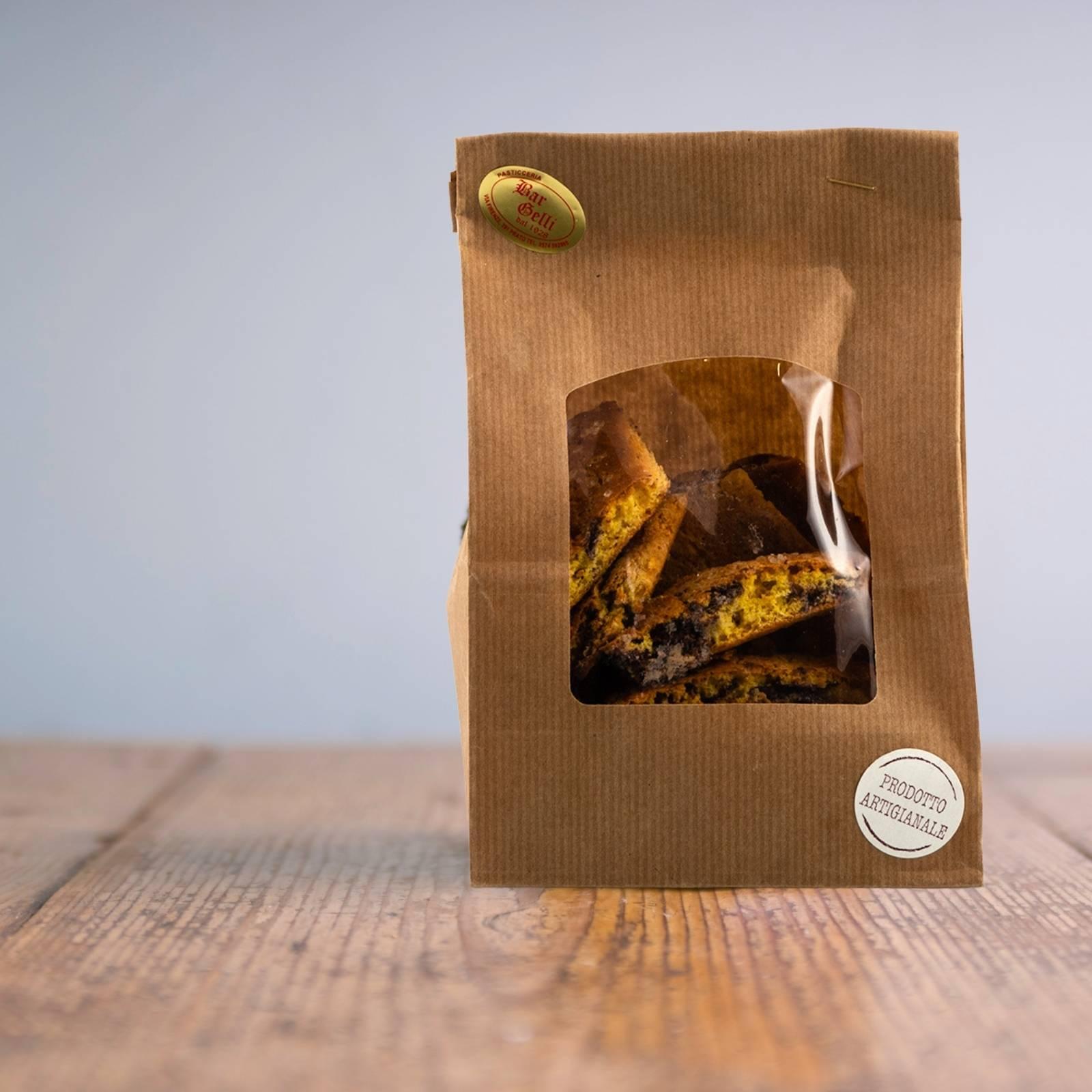 Bar Pasticceria Gelli Biscotti di Prato Cioccolato Fondente 70%