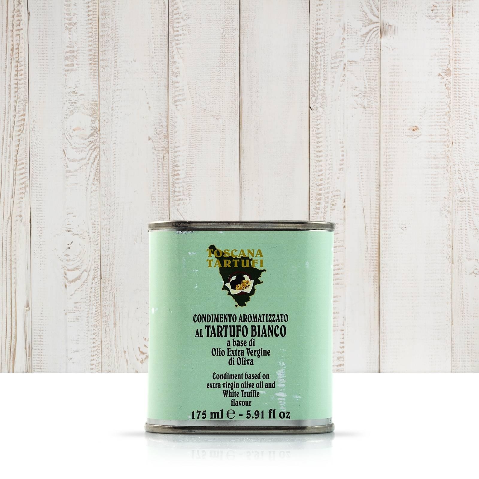 Toscana Tartufi Olio EVO aromatizzato al tartufo bianco - lattina