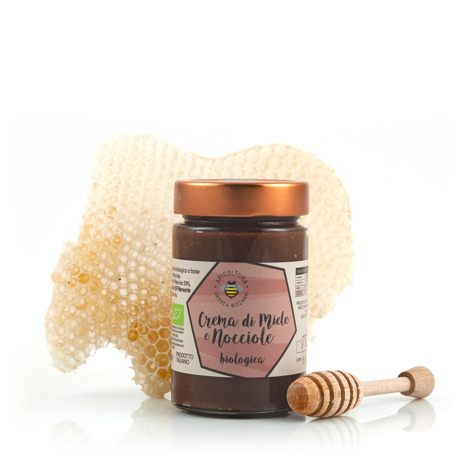 Apicoltura Andrea Bizzarri Crema di Miele e Nocciole